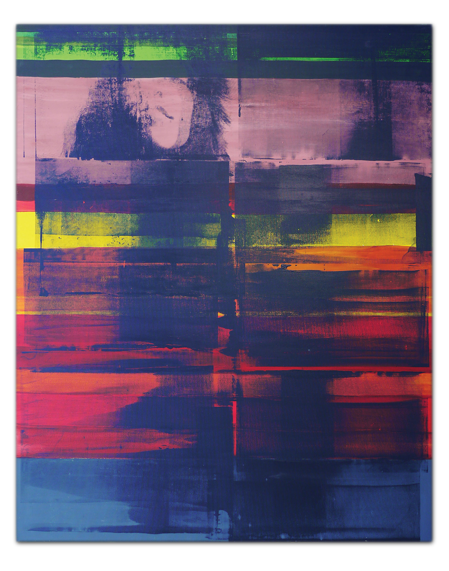 Zeitgeist Painting one | Acrylic and Silkscreen ink on canvas . 47 x 59 inches · 120 x 150 cm . MMXIII
