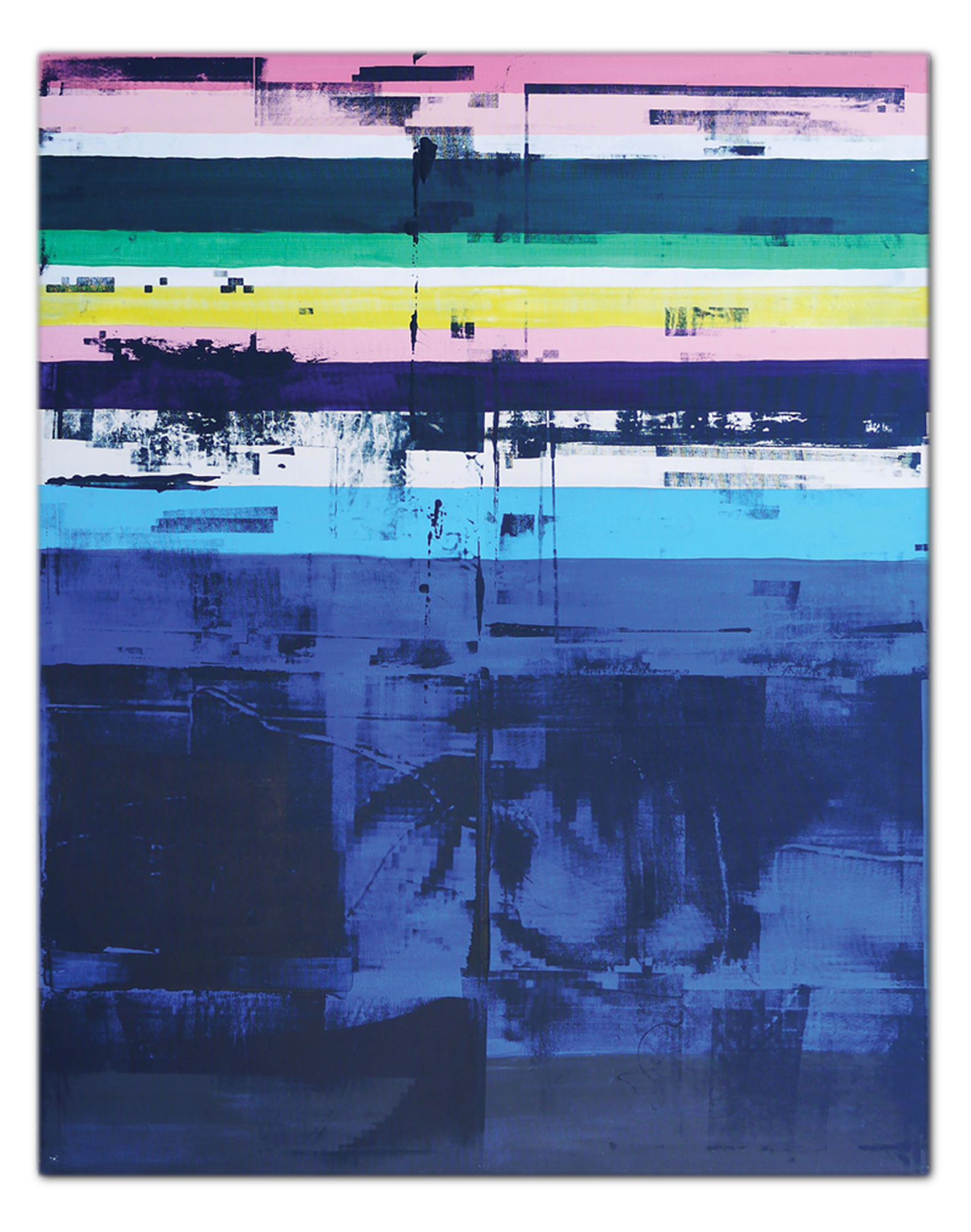 Zeitgeist Painting two | Acrylic and Silkscreen ink on canvas . 46 x 59 inches · 118 x 150 cm . MMXIII