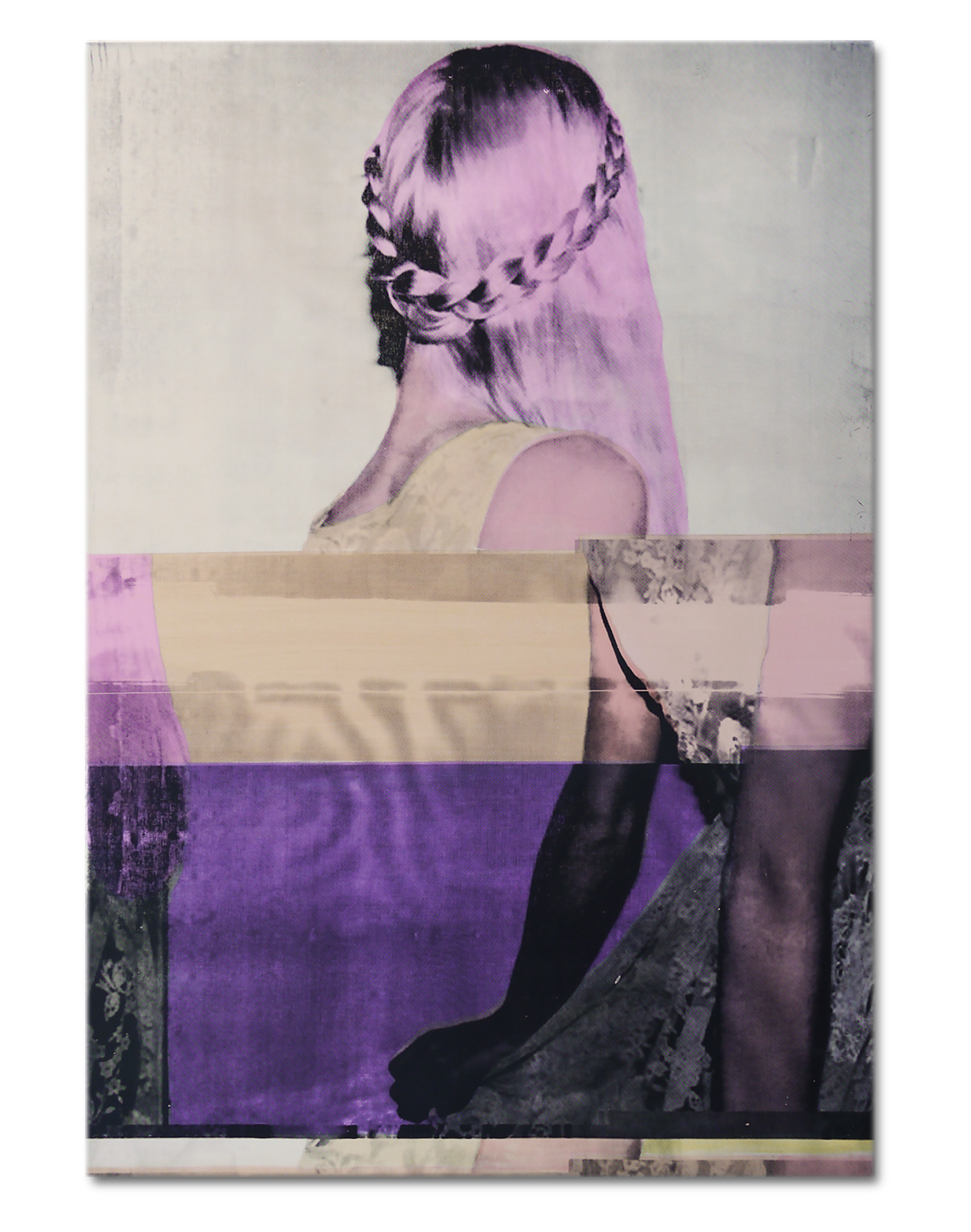 V | Acrylic and Silkscreen ink on canvas . 31 x 45 inches · 80 x 115 cm . MMXV
