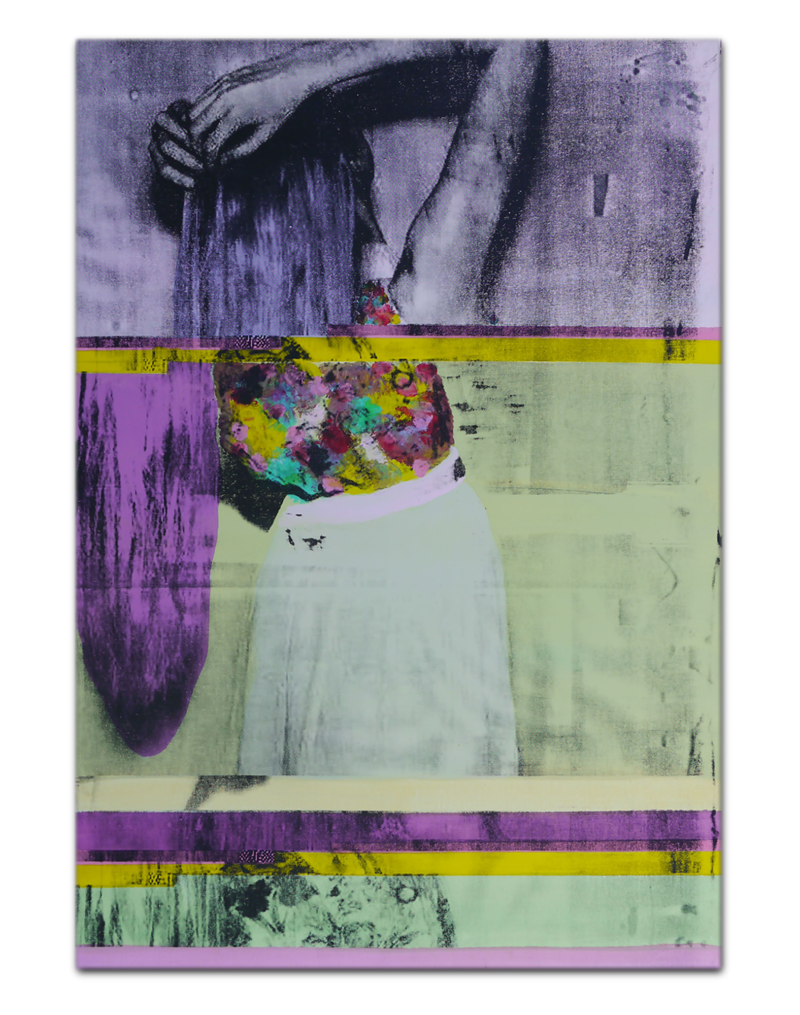 VIII | Acrylic and Silkscreen ink on canvas . 31 x 45 inches 80 x 115 cm . MMXV