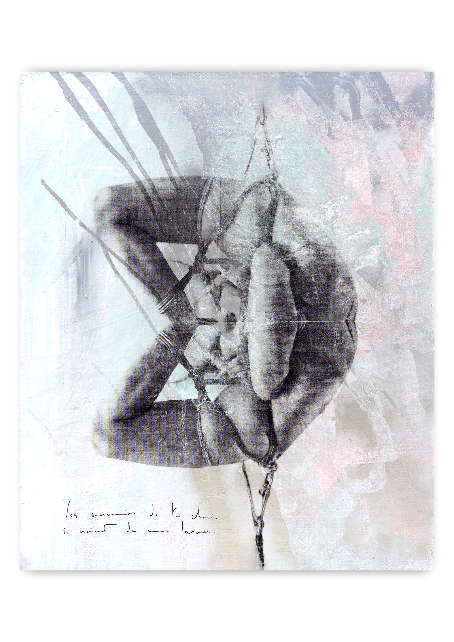 p l a y g r o u n d | Acrylic, Aerosol spray and Silkscreen ink on canvas . 26 x 21 inches · 65 x 54 cm . MMXX